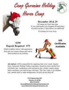 Holiday Horse Camp 2017