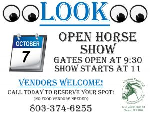 October Horse Show Flyer